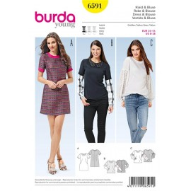 Dress & Blouse Burda Sewing Pattern N°6591