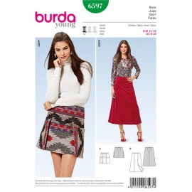 Skirt Burda Sewing Pattern N°6597
