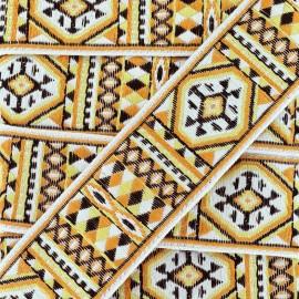 Jacquard braid trimming ribbon Kiowa - orange x 1m