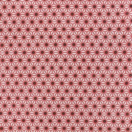 Cretonne cotton Fabric Saki - white/red x 10 cm