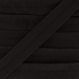 Suede bias 18 mm - brown x 1m