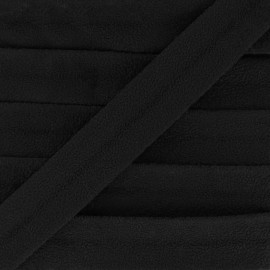 Suede bias 18 mm - black x 1m
