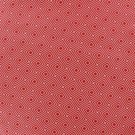 Coated cotton fabric Poppy Mango Bango Kiwi - red x 10cm