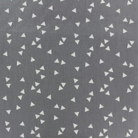 Coated cotton fabric Poppy Square - white/grey x 10cm