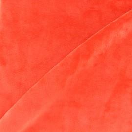 Reversible plain minkee velvet fabric Toodoo - orange x 10cm