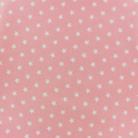 Coated cotton fabric Poppy Triangle - white/light pink x 10cm
