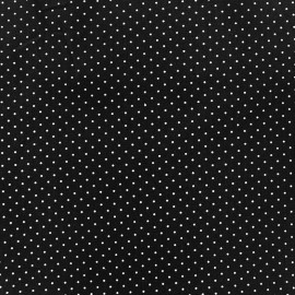 Coated cotton fabric Poppy Mini Pois - white/black x 10cm