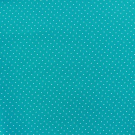Coated cotton fabric Poppy Mini Pois - white/azure blue x 10cm