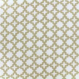 Tissu double gaze de coton Little Prints  Zellige - natural x 10 cm