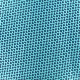 Tissu satin impression gomme Stars (laize : 42 cm) - bleu/vert d'eau x 10cm