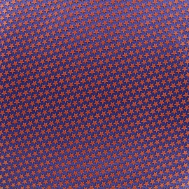 Printed rubber on satin Fabric Stars (laize : 42 cm) - brick/navy x 10cm