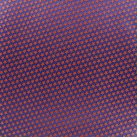 Tissu satin impression gomme Stars (laize : 42 cm) - brique/navy x 10cm