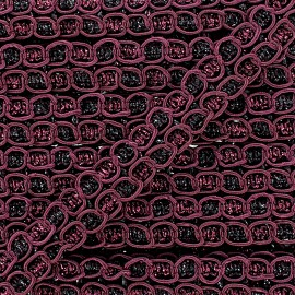 """Retro"" Lace-making Braid trimming Ribbon 15 mm - burgundy x 1m"