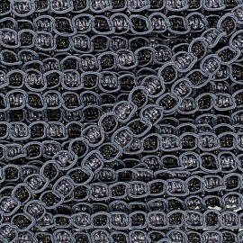 """Retro"" Lace-making Braid trimming Ribbon 15 mm - grey x 1m"