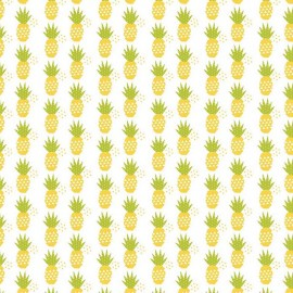 Fresh market Fabric Pineapple White x 10 cm