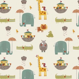 GIRAFFE CROSSING 2 Fabric MAIN CREAM x 10 cm