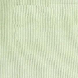 Tissu velours milleraies asperge clair 300gr/ml x 10cm