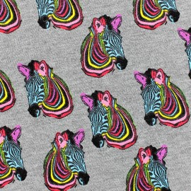 Poppy Jersey Fabric Zebra - Multi x 10 cm