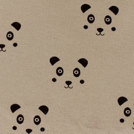 Jersey Little Panda - brown x 10 cm