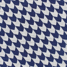Poppy  Jersey Fabric Defining Lines - navy x 10 cm