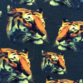 Jersey fabric Tigers - night x 10 cm