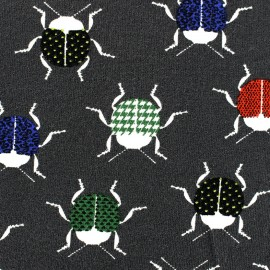 Poppy Jersey fabric Cool Cricket - anthracite x 10 cm