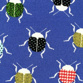 Poppy Jersey fabric Cool Cricket - blue x 10 cm
