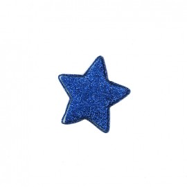 Star iron-on patch paded - navy