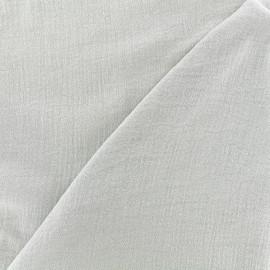 Tissu double gaze de coton Solid bubble gauze - gray x 10 cm