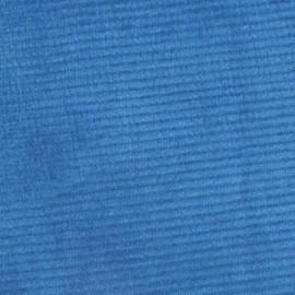 Tissu Velours milleraies bleu 300 gr/ml