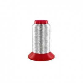 Au Chinois thread bobbin 1000m - metallic silver