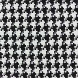 Tissu jacquard tissé Pied de poule - noir et blanc x 10cm
