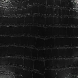 Simili cuir Gavial - noir x 10cm