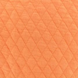 Tissu jersey matelassé losanges 30/50 - melon x 10cm