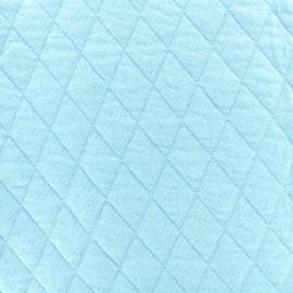 Tissu jersey matelassé losanges 30/50 -  ciel x 10cm