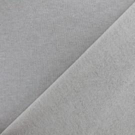 sweat fabric Chiné - grey x 10cm