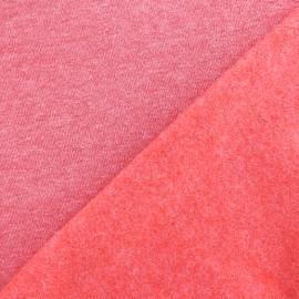sweat fabric Chiné - red x 10cm