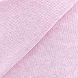 sweat fabric Chiné - pink x 10cm