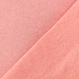 sweat fabric Chiné - coral x 10cm