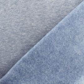 sweat fabric Chiné - skyline blue x 10cm