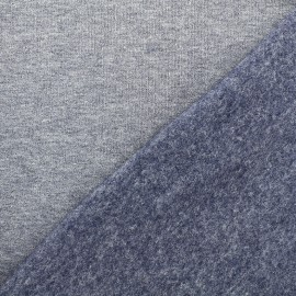 sweat fabric Chiné - blue jean x 10cm