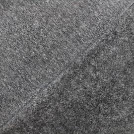 sweat fabric Chiné - anthracite x 10cm