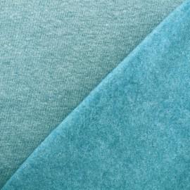 sweat fabric Chiné - peacock blue x 10cm