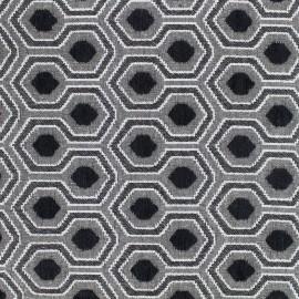 Tissu jacquard brodé Optimo - noir x 10cm