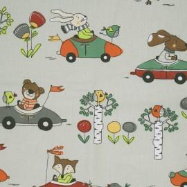 Tissu coton crétonne Promenade - naturel x 31cm