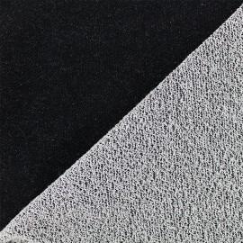 Tissu jogging Pailleté - noir x 10cm
