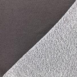 Tissu jogging Pailleté - anthracite x 10cm