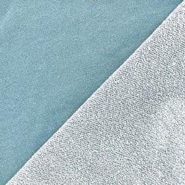 Tissu jogging Pailleté - bleu pastel x 10cm