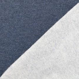 Tissu jogging Molletonné Pailleté - marine x 10cm