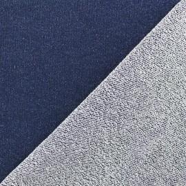 Tissu jogging Pailleté - marine x 10cm